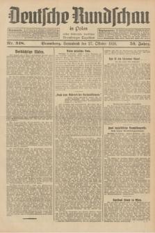 Deutsche Rundschau in Polen : früher Ostdeutsche Rundschau, Bromberger Tageblatt. Jg.52, Nr. 248 (27 Oktober 1928) + dod.