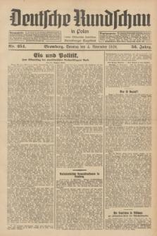 Deutsche Rundschau in Polen : früher Ostdeutsche Rundschau, Bromberger Tageblatt. Jg.52, Nr. 254 (4 November 1928) + dod.