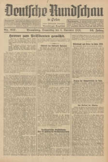 Deutsche Rundschau in Polen : früher Ostdeutsche Rundschau, Bromberger Tageblatt. Jg.52, Nr. 257 (8 November 1928) + dod.