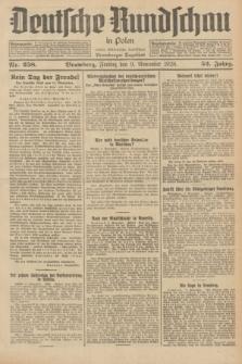 Deutsche Rundschau in Polen : früher Ostdeutsche Rundschau, Bromberger Tageblatt. Jg.52, Nr. 258 (9 November 1928) + dod.