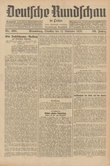 Deutsche Rundschau in Polen : früher Ostdeutsche Rundschau, Bromberger Tageblatt. Jg.52, Nr. 261 (13 November 1928) + dod.
