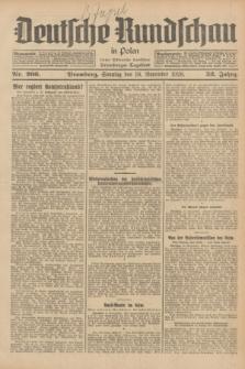 Deutsche Rundschau in Polen : früher Ostdeutsche Rundschau, Bromberger Tageblatt. Jg.52, Nr. 266 (18 November 1928) + dod.