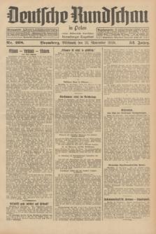 Deutsche Rundschau in Polen : früher Ostdeutsche Rundschau, Bromberger Tageblatt. Jg.52, Nr. 268 (21 November 1928) + dod.