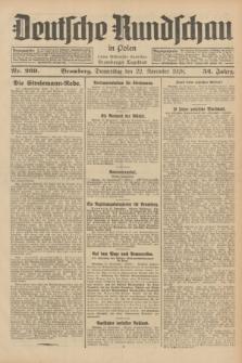 Deutsche Rundschau in Polen : früher Ostdeutsche Rundschau, Bromberger Tageblatt. Jg.52, Nr. 269 (22 November 1928) + dod.