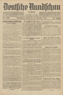 Deutsche Rundschau in Polen : früher Ostdeutsche Rundschau, Bromberger Tageblatt. Jg.52, Nr. 270 (23 November 1928) + dod.