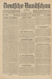 Deutsche Rundschau in Polen : früher Ostdeutsche Rundschau, Bromberger Tageblatt. Jg.52, Nr. 271 (24 November 1928) + dod.