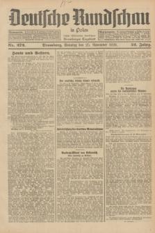Deutsche Rundschau in Polen : früher Ostdeutsche Rundschau, Bromberger Tageblatt. Jg.52, Nr. 272 (25 November 1928) + dod.
