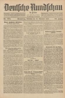Deutsche Rundschau in Polen : früher Ostdeutsche Rundschau, Bromberger Tageblatt. Jg.52, Nr. 274 (28 November 1928) + dod.