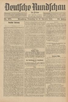 Deutsche Rundschau in Polen : früher Ostdeutsche Rundschau, Bromberger Tageblatt. Jg.52, Nr. 275 (29 November 1928) + dod.