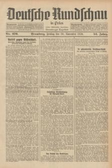 Deutsche Rundschau in Polen : früher Ostdeutsche Rundschau, Bromberger Tageblatt. Jg.52, Nr. 276 (30 November 1928) + dod.