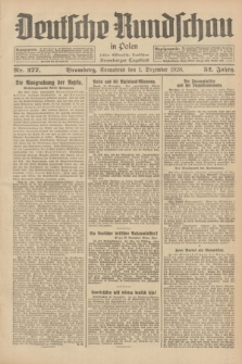 Deutsche Rundschau in Polen : früher Ostdeutsche Rundschau, Bromberger Tageblatt. Jg.52, Nr. 277 (1 Dezember 1928) + dod.