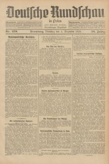 Deutsche Rundschau in Polen : früher Ostdeutsche Rundschau, Bromberger Tageblatt. Jg.52, Nr. 279 (4 Dezember 1928) + dod.