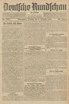 Deutsche Rundschau in Polen : früher Ostdeutsche Rundschau, Bromberger Tageblatt. Jg.52, Nr. 284 (11 Dezember 1928) + dod.
