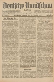 Deutsche Rundschau in Polen : früher Ostdeutsche Rundschau, Bromberger Tageblatt. Jg.52, Nr. 288 (15 Dezember 1928) + dod.