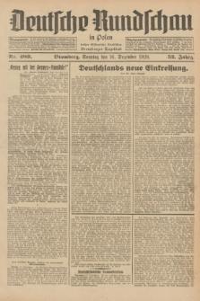 Deutsche Rundschau in Polen : früher Ostdeutsche Rundschau, Bromberger Tageblatt. Jg.52, Nr. 289 (16 Dezember 1928) + dod.