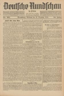 Deutsche Rundschau in Polen : früher Ostdeutsche Rundschau, Bromberger Tageblatt. Jg.52, Nr. 291 (19 Dezember 1928) + dod.