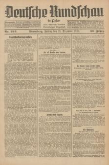 Deutsche Rundschau in Polen : früher Ostdeutsche Rundschau, Bromberger Tageblatt. Jg.52, Nr. 293 (21 Dezember 1928) + dod.