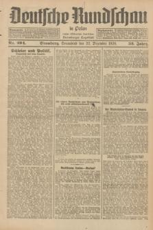 Deutsche Rundschau in Polen : früher Ostdeutsche Rundschau, Bromberger Tageblatt. Jg.52, Nr. 294 (22 Dezember 1928) + dod.