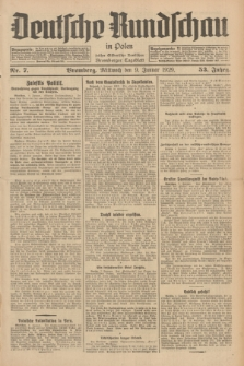 Deutsche Rundschau in Polen : früher Ostdeutsche Rundschau, Bromberger Tageblatt. Jg.53, Nr. 7 (9 Januar 1929) + dod.