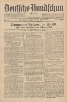 Deutsche Rundschau in Polen : früher Ostdeutsche Rundschau, Bromberger Tageblatt. Jg.53, Nr. 21 (25 Januar 1929) + dod.