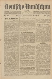 Deutsche Rundschau in Polen : früher Ostdeutsche Rundschau, Bromberger Tageblatt. Jg.53, Nr. 79 (6 April 1929) + dod.