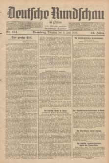 Deutsche Rundschau in Polen : früher Ostdeutsche Rundschau, Bromberger Tageblatt. Jg.53, Nr. 154 (9 Juli 1929) + dod.