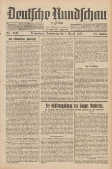 Deutsche Rundschau in Polen : früher Ostdeutsche Rundschau, Bromberger Tageblatt. Jg.53, Nr. 180 (8 August 1929) + dod.