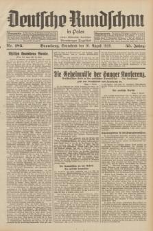 Deutsche Rundschau in Polen : früher Ostdeutsche Rundschau, Bromberger Tageblatt. Jg.53, Nr. 182 (10 August 1929) + dod.