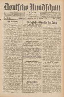 Deutsche Rundschau in Polen : früher Ostdeutsche Rundschau, Bromberger Tageblatt. Jg.53, Nr. 187 (17 August 1929) + dod.