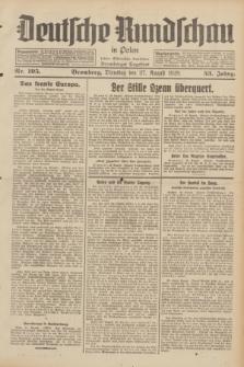 Deutsche Rundschau in Polen : früher Ostdeutsche Rundschau, Bromberger Tageblatt. Jg.53, Nr. 195 (27 August 1929) + dod.