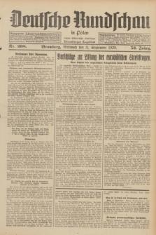 Deutsche Rundschau in Polen : früher Ostdeutsche Rundschau, Bromberger Tageblatt. Jg.53, Nr. 208 (11 September 1929) + dod.