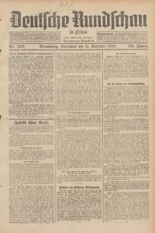 Deutsche Rundschau in Polen : früher Ostdeutsche Rundschau, Bromberger Tageblatt. Jg.53, Nr. 217 (21 September 1929) + dod.