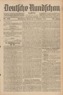 Deutsche Rundschau in Polen : früher Ostdeutsche Rundschau, Bromberger Tageblatt. Jg.53, Nr. 257 (8 November 1929) + dod.