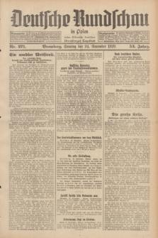 Deutsche Rundschau in Polen : früher Ostdeutsche Rundschau, Bromberger Tageblatt. Jg.53, Nr. 271 (24 November 1929) + dod.