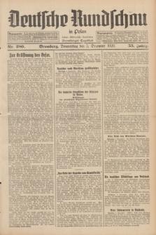 Deutsche Rundschau in Polen : früher Ostdeutsche Rundschau, Bromberger Tageblatt. Jg.53, Nr. 280 (5 Dezember 1929) + dod.