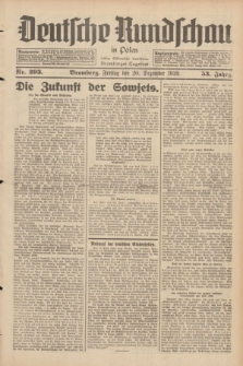 Deutsche Rundschau in Polen : früher Ostdeutsche Rundschau, Bromberger Tageblatt. Jg.53, Nr. 293 (20 Dezember 1929) + dod.