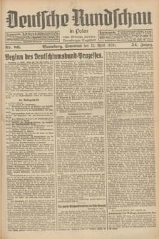 Deutsche Rundschau in Polen : früher Ostdeutsche Rundschau, Bromberger Tageblatt. Jg.54, Nr. 86 (12 April 1930) + dod.