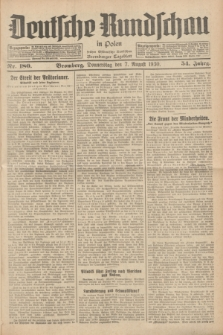 Deutsche Rundschau in Polen : früher Ostdeutsche Rundschau, Bromberger Tageblatt. Jg.54, Nr. 180 (7 August 1930) + dod.