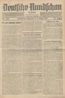 Deutsche Rundschau in Polen : früher Ostdeutsche Rundschau, Bromberger Tageblatt. Jg.54, Nr. 182 (9 August 1930) + dod.