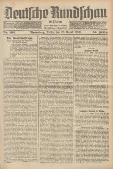 Deutsche Rundschau in Polen : früher Ostdeutsche Rundschau, Bromberger Tageblatt. Jg.54, Nr. 192 (22 August 1930) + dod.
