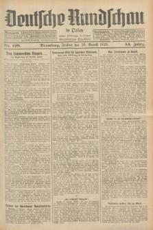Deutsche Rundschau in Polen : früher Ostdeutsche Rundschau, Bromberger Tageblatt. Jg.54, Nr. 198 (29 August 1930) + dod.
