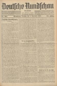 Deutsche Rundschau in Polen : früher Ostdeutsche Rundschau, Bromberger Tageblatt. Jg.54, Nr. 201 (2 September 1930) + dod.