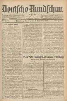 Deutsche Rundschau in Polen : früher Ostdeutsche Rundschau, Bromberger Tageblatt. Jg.54, Nr. 207 (9 September 1930) + dod.