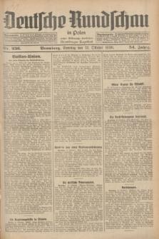 Deutsche Rundschau in Polen : früher Ostdeutsche Rundschau, Bromberger Tageblatt. Jg.54, Nr. 236 (12 Oktober 1930) + dod.