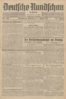Deutsche Rundschau in Polen : früher Ostdeutsche Rundschau, Bromberger Tageblatt. Jg.55, Nr. 177 (5 August 1931) + dod.