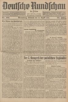 Deutsche Rundschau in Polen : früher Ostdeutsche Rundschau, Bromberger Tageblatt. Jg.55, Nr. 183 (12 August 1931) + dod.