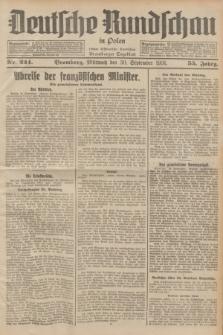 Deutsche Rundschau in Polen : früher Ostdeutsche Rundschau, Bromberger Tageblatt. Jg.55, Nr. 224 (30 September 1931) + dod.