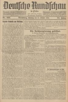 Deutsche Rundschau in Polen : früher Ostdeutsche Rundschau, Bromberger Tageblatt. Jg.55, Nr. 234 (11 Oktober 1931) + dod.