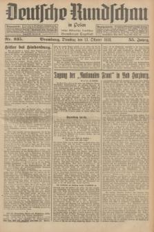 Deutsche Rundschau in Polen : früher Ostdeutsche Rundschau, Bromberger Tageblatt. Jg.55, Nr. 235 (13 Oktober 1931) + dod.