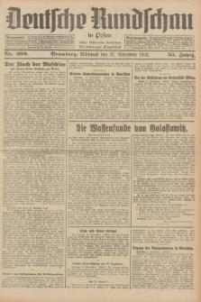 Deutsche Rundschau in Polen : früher Ostdeutsche Rundschau, Bromberger Tageblatt. Jg.55, Nr. 260 (11 November 1931) + dod.